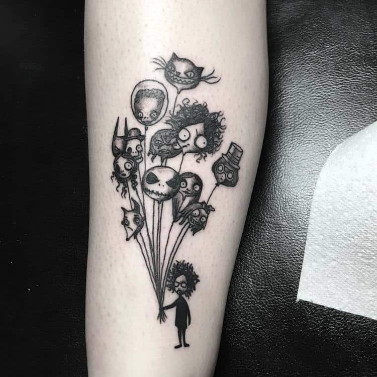 Tim Burton Tattoo Designs