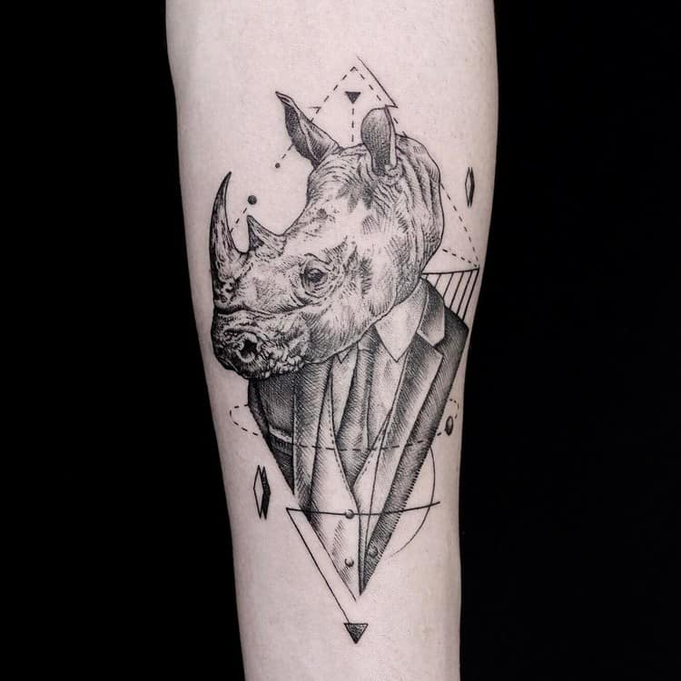 Gentlemen Rhino Tattoo