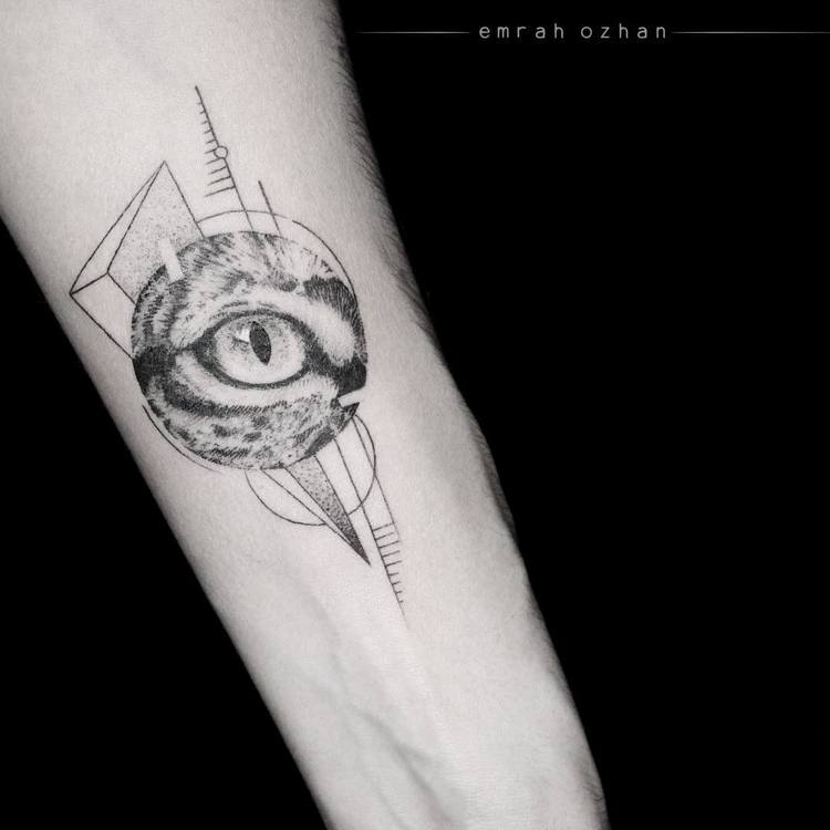 Feline Eye Tattoo and Geometry