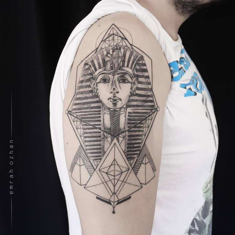 Half Sleeve Tutankhamon Tattoo