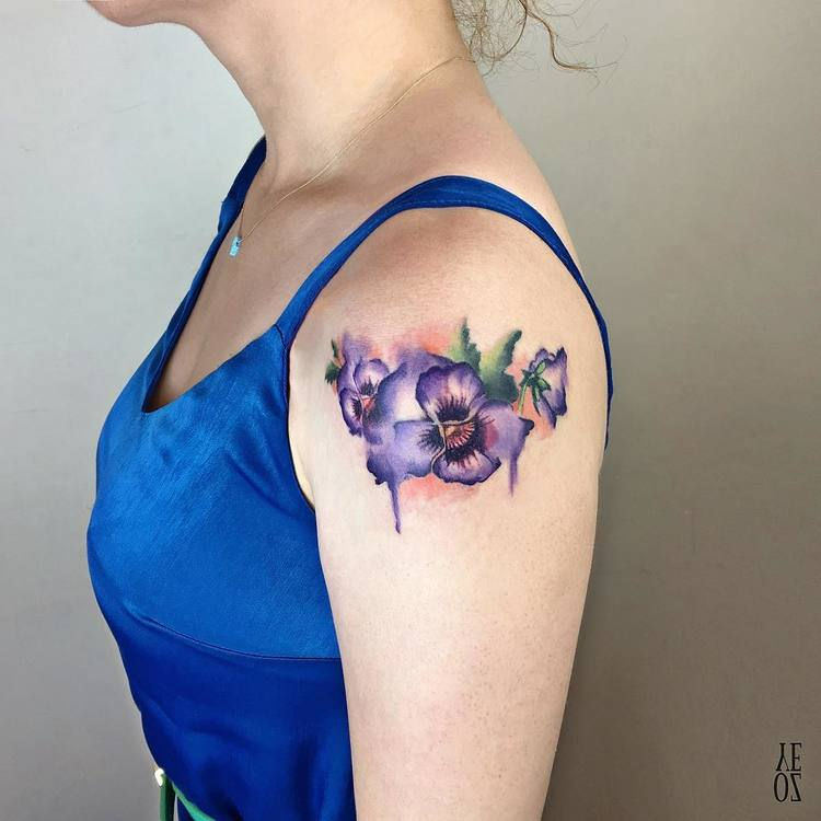 Violet Tattoo by yelizozcan_tattooer