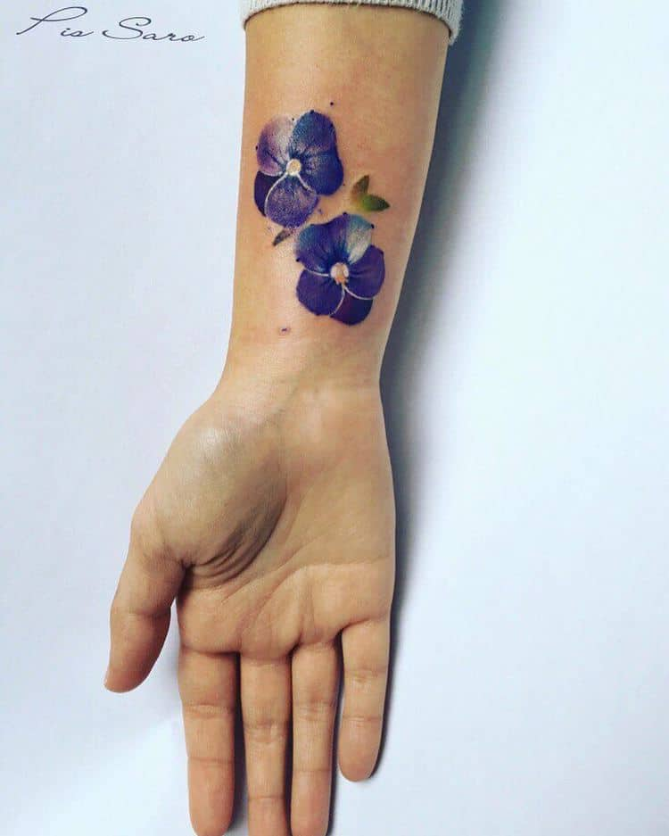 18 Beautiful Violet Tattoo Designs And Ideas
