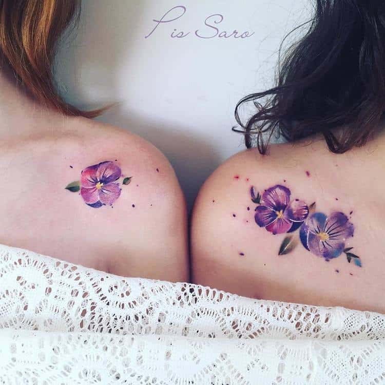 Violet Tattoo by pissaro_tattoo
