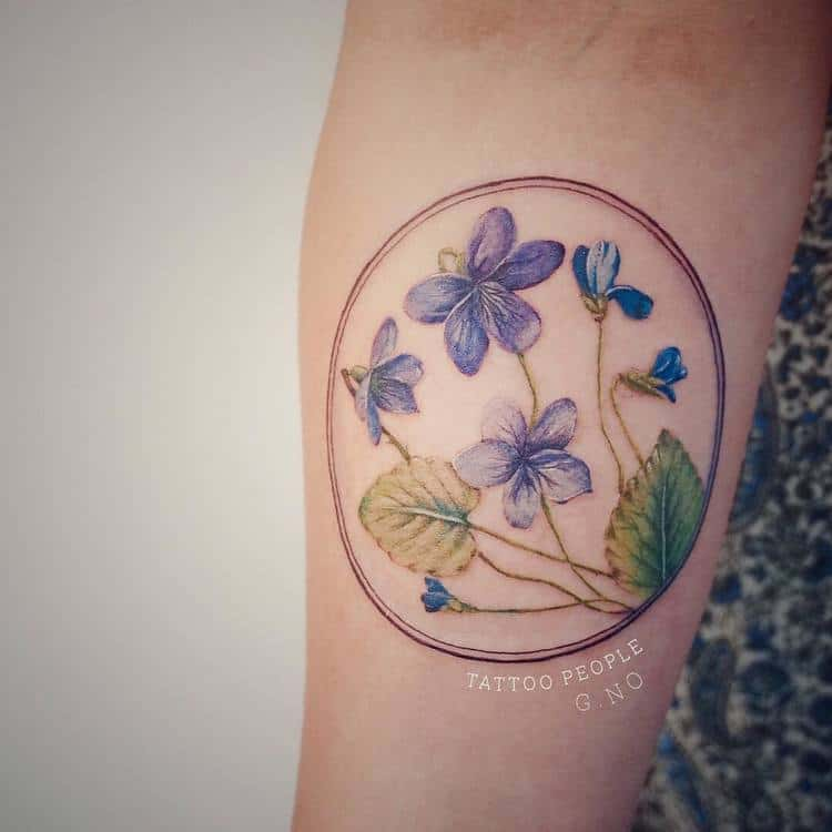 Violet Tattoos by gnotattoo