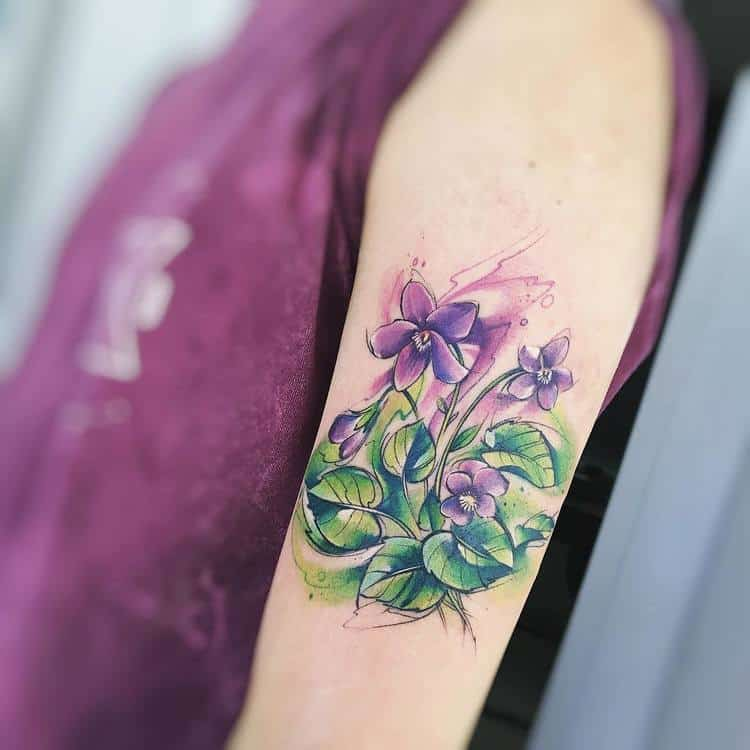 Violet Tattoos by adrianbascur