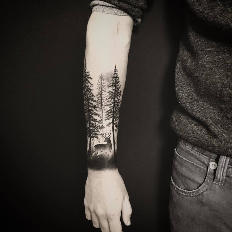 Forest Tattoo by atelier_de_lencre