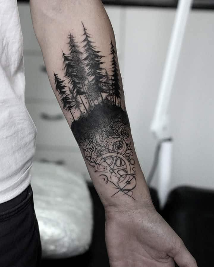 Forest Tattoo by fenyarttattoo