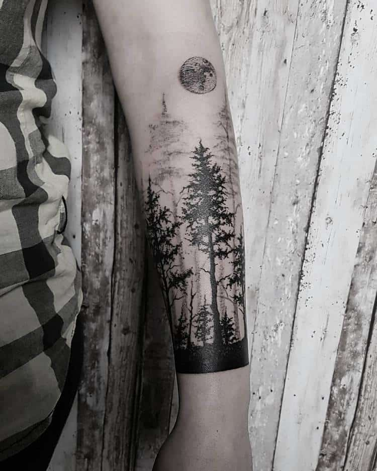 Forest Tattoo by sissiwhites_tattoos