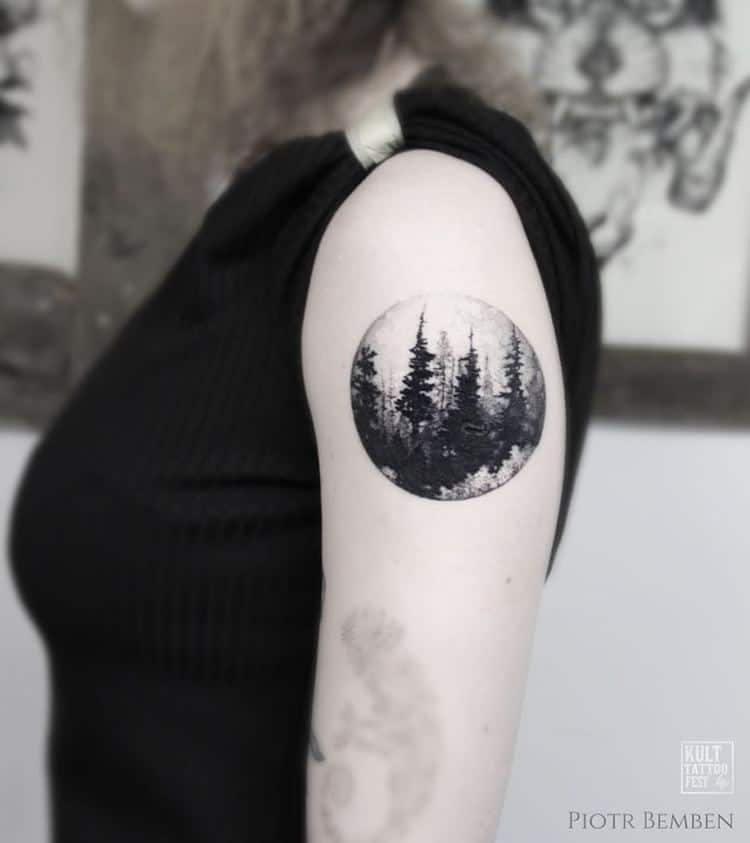 Forest Tattoo by piotrbemben_tattoo