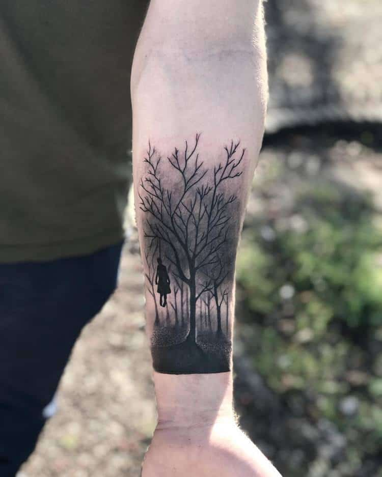 Forest Tattoo by camtattooart