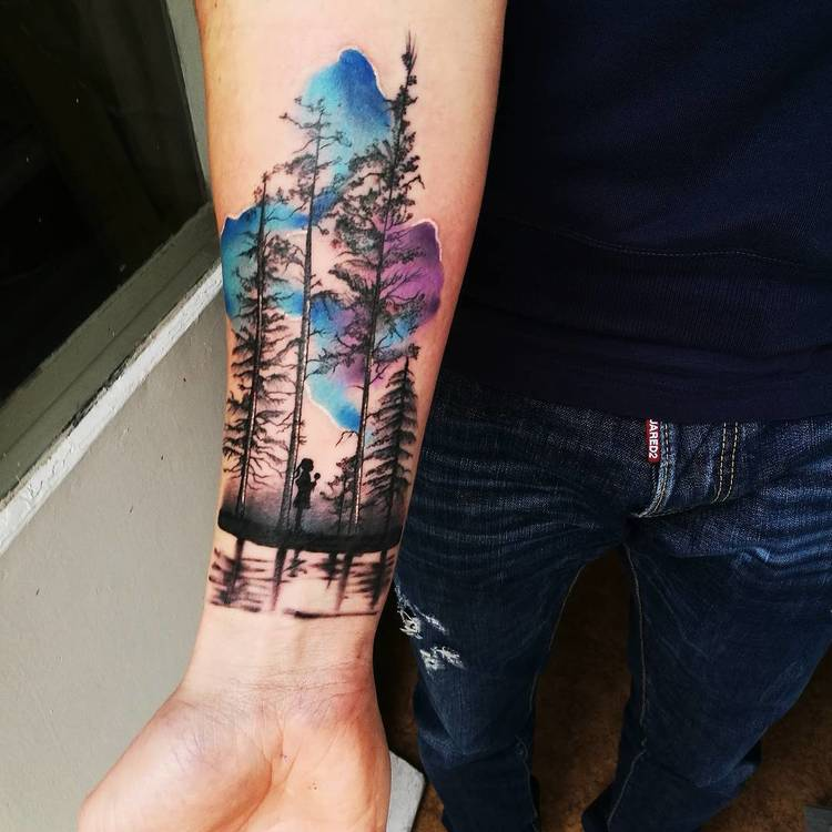 Forest Tattoo by nktattoopriv
