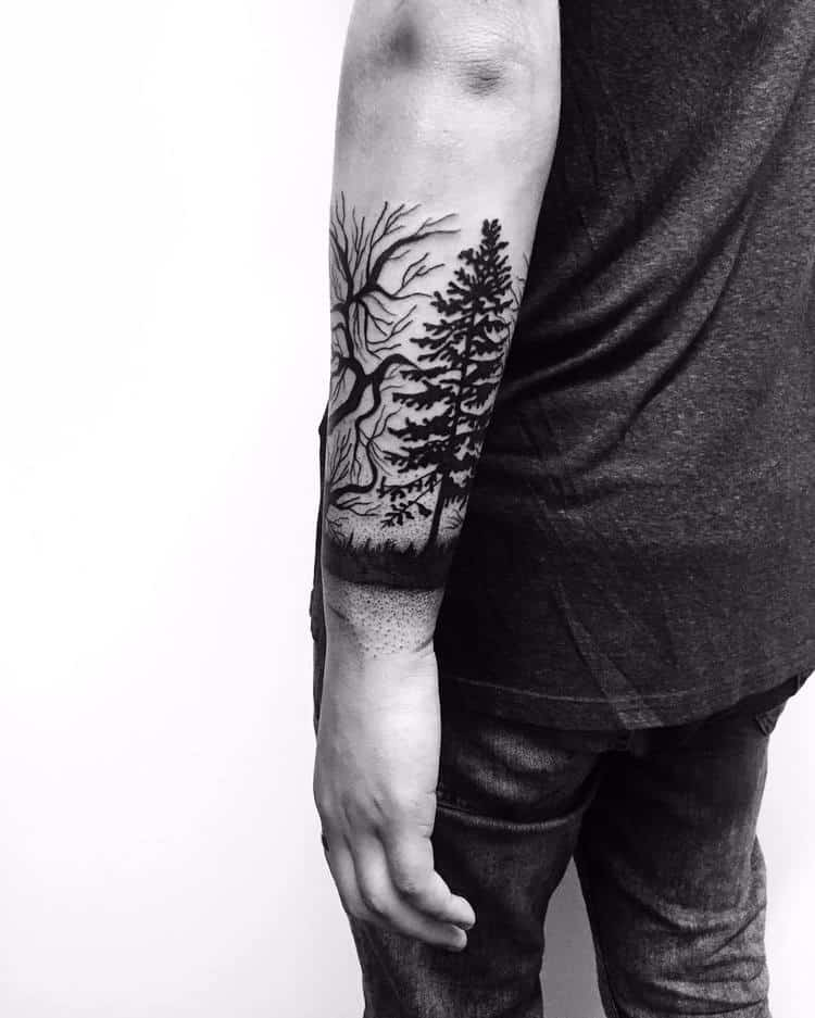 Forest Tattoo by leonor_lima
