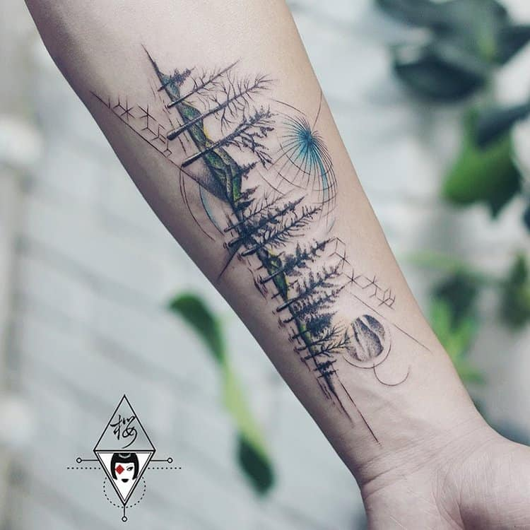 Forest Tattoo by tattooist_ling