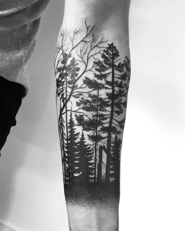 Forest Tattoo by johannesfolkeb
