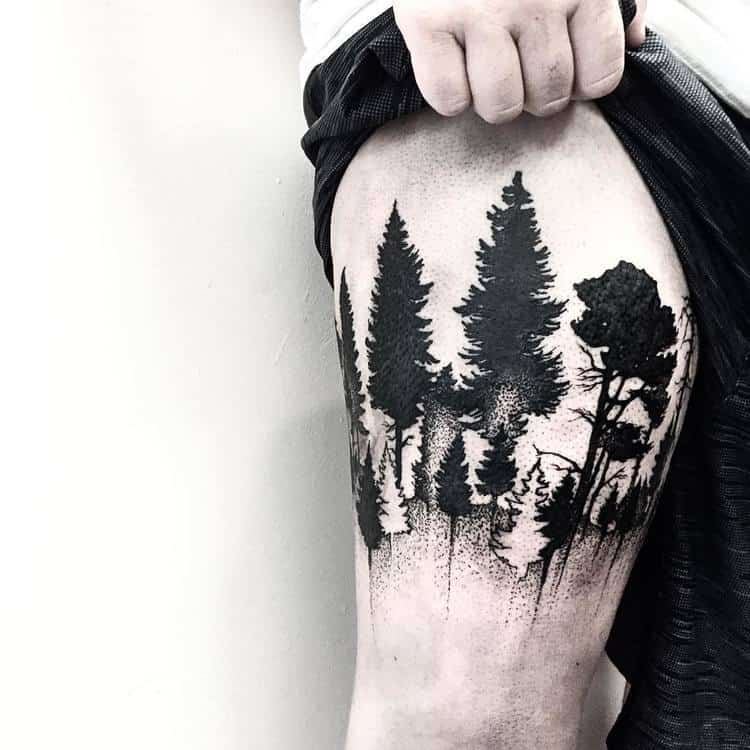 Forest Tattoo by mgptattoos