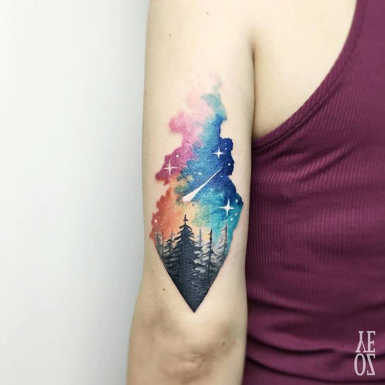 Forest Tattoo by yelizozcan_tattooer