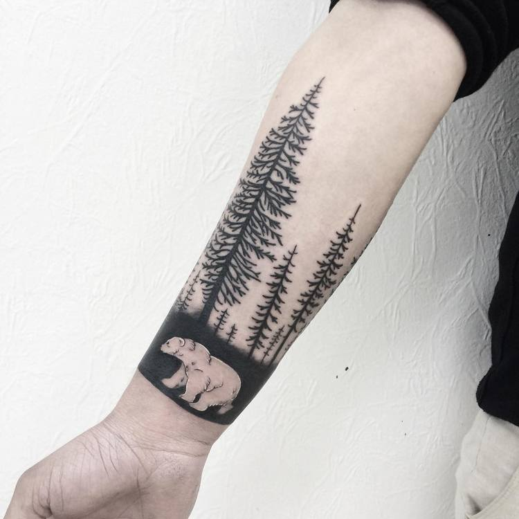 Forest Tattoo by victoriascarlet93