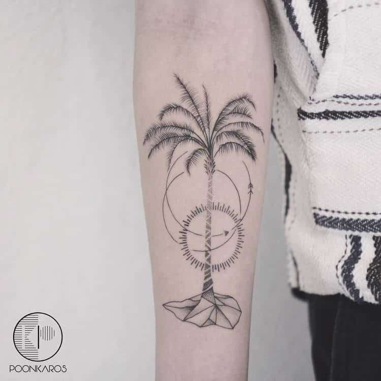 Palm Tree Tattoo by poonkaros