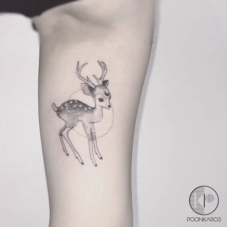 Deer Tattoo by poonkaros