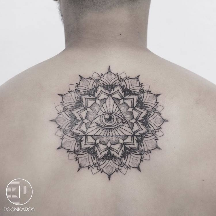 All Seeing Eye Mandala Tattoo by poonkaros