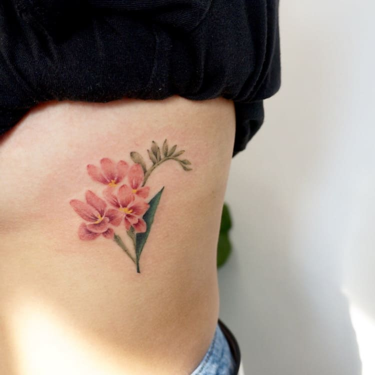 Freesia tattoo by gnotattoo