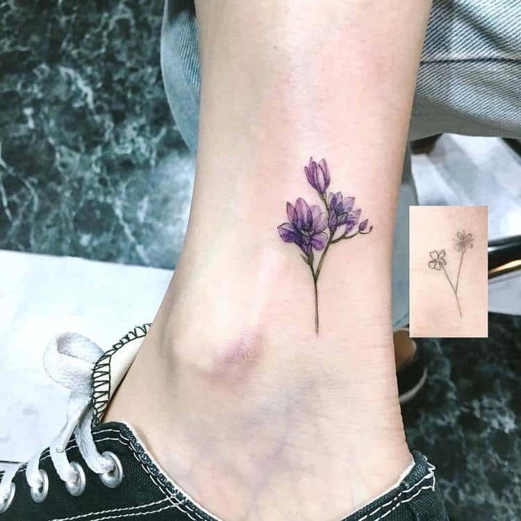 Freesia tattoo by aeri_tattoo