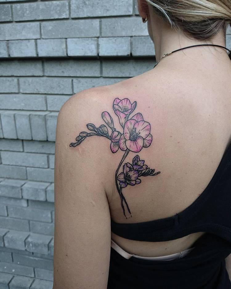 Freesia tattoo by itwasalotbetterinmyhead