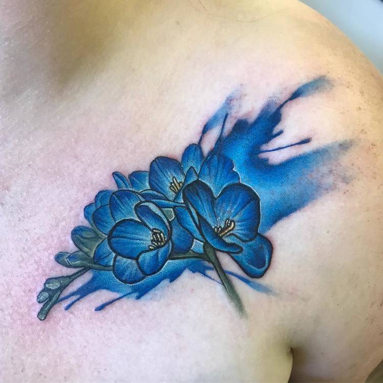 Freesia tattoo by jenmaw666