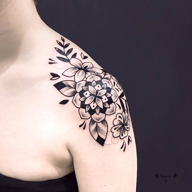 Floral Mandala Tattoo by violette_bleunoir