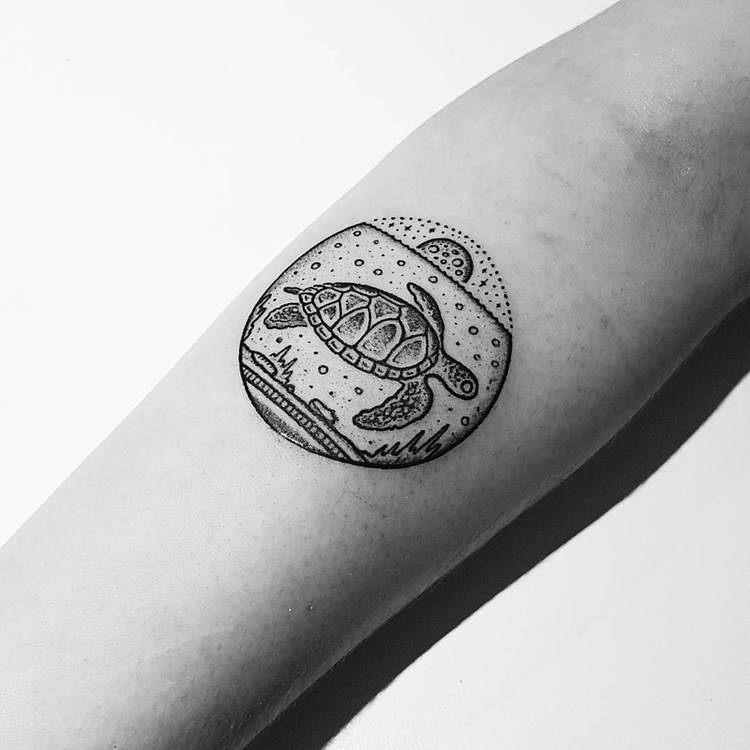 Turtle Tattoo by Mike Stout