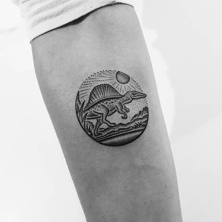 Spinosaurus Tattoo by Mike Stout