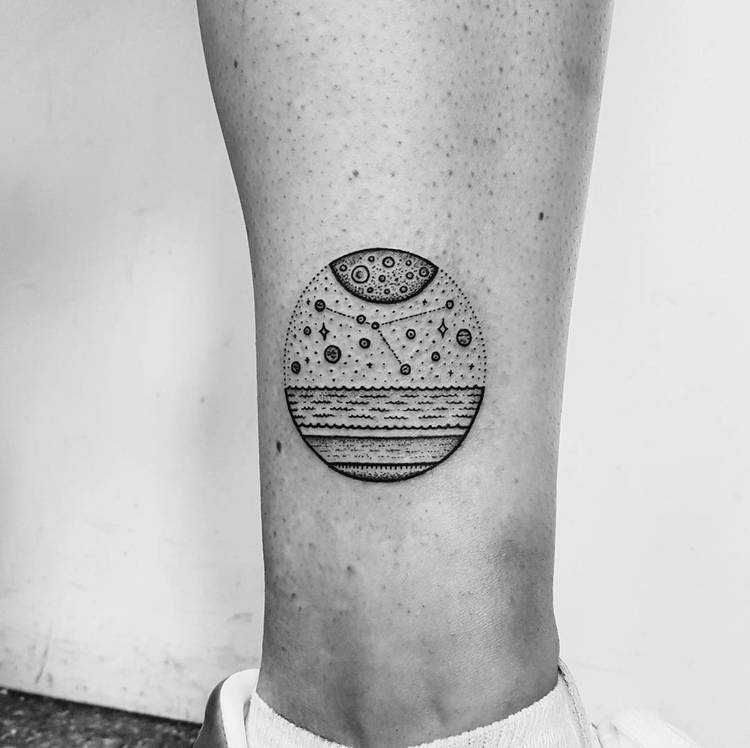 Cancer Constellation Tattoo by Mike Stout