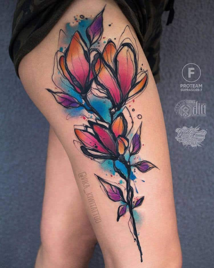 Magnolia Tattoo by vika_kiwitattoo
