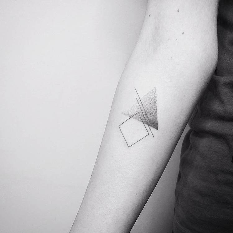Lines and Dots Geometric Tattoo by Vitaly Kazantsev