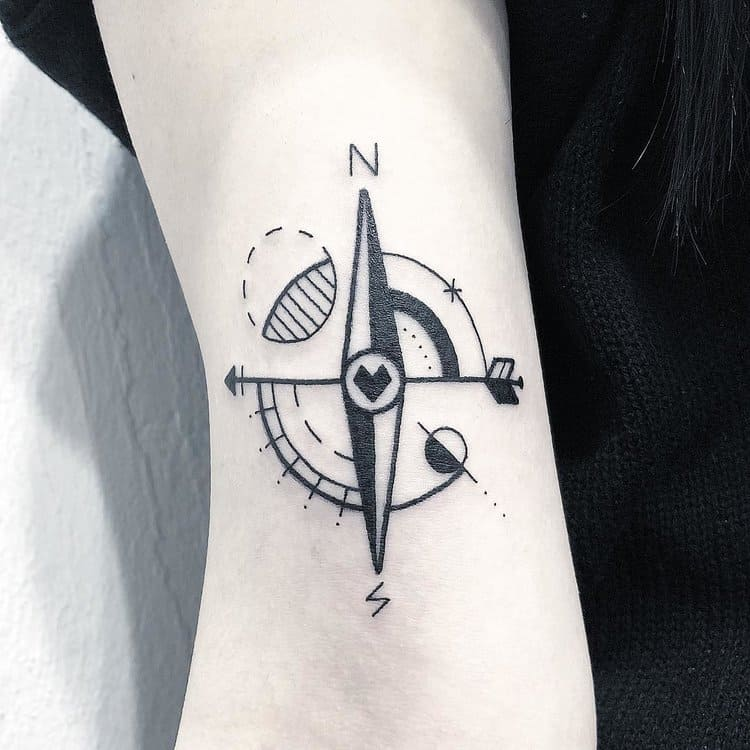 Compass Tattoo by Greemtattoo