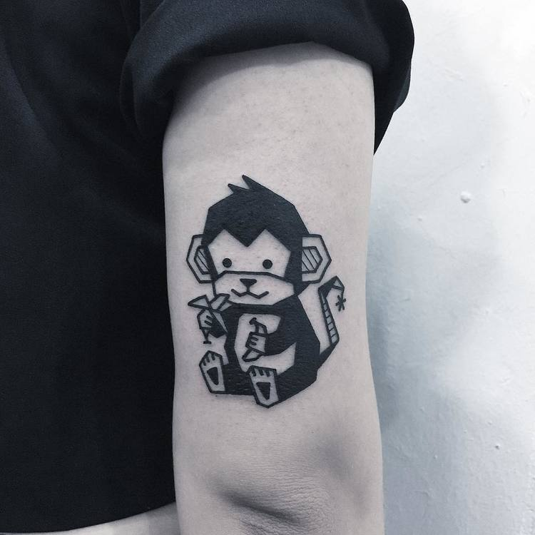 Monkey Tattoo by Greemtattoo