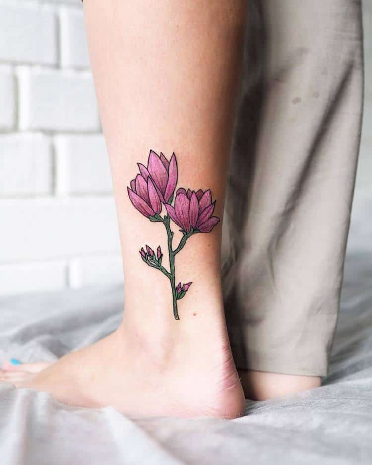Magnolia Tattoo by mimilina_tattoo