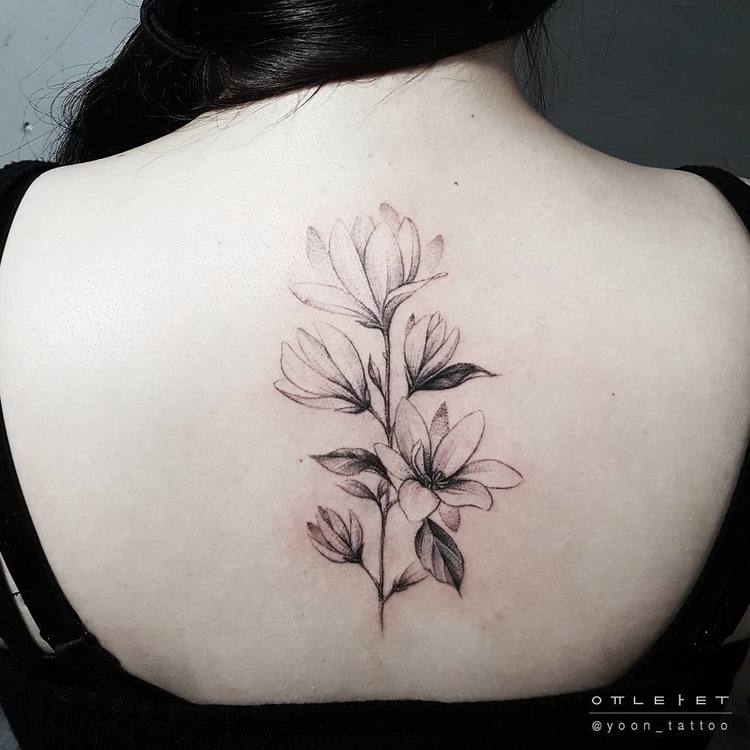 Magnolia Tattoo by yoon_tattoo