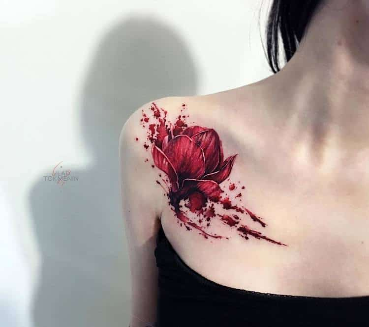 Magnolia Tattoo by vt_tattoo