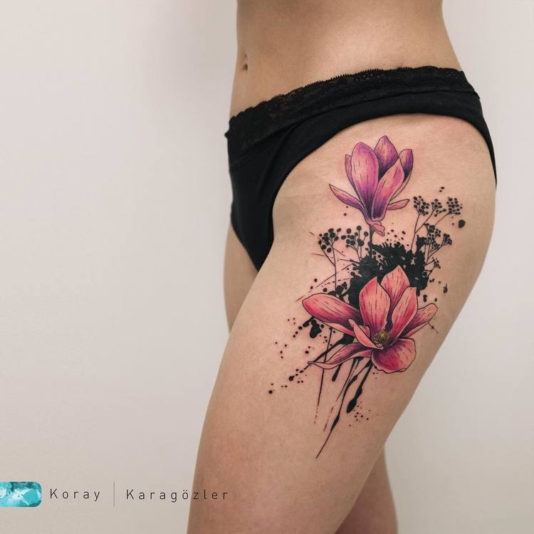 Magnolia Tattoo by koray_karagozler