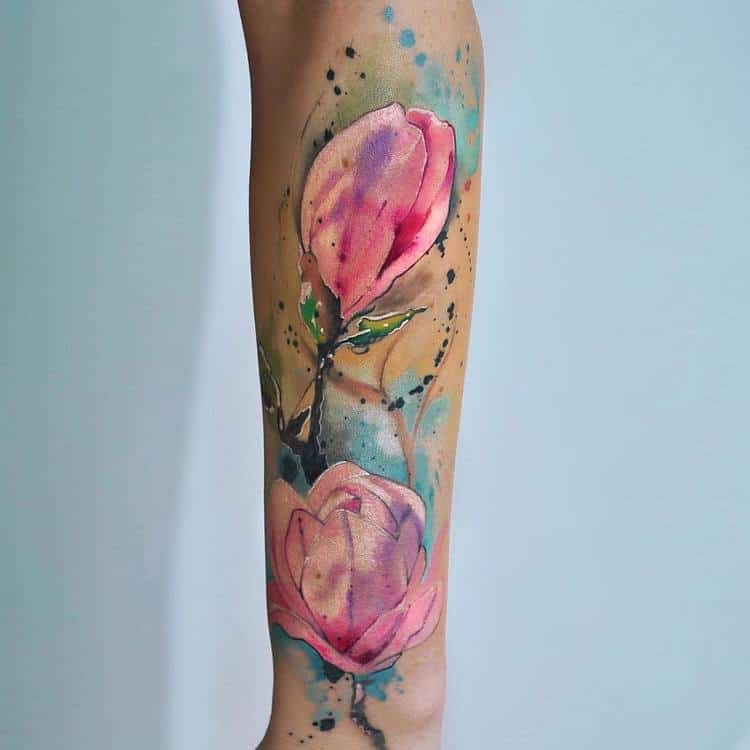 Magnolia Tattoo by dopeindulgence