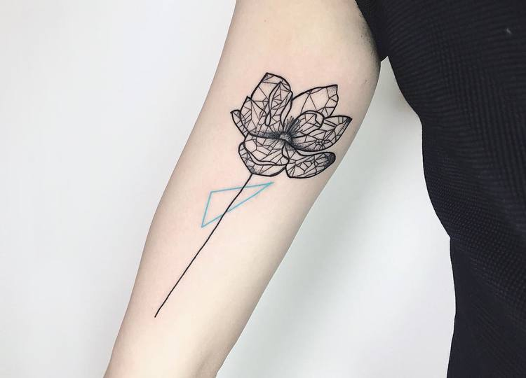 Magnolia Tattoo by nothingwildtattoo