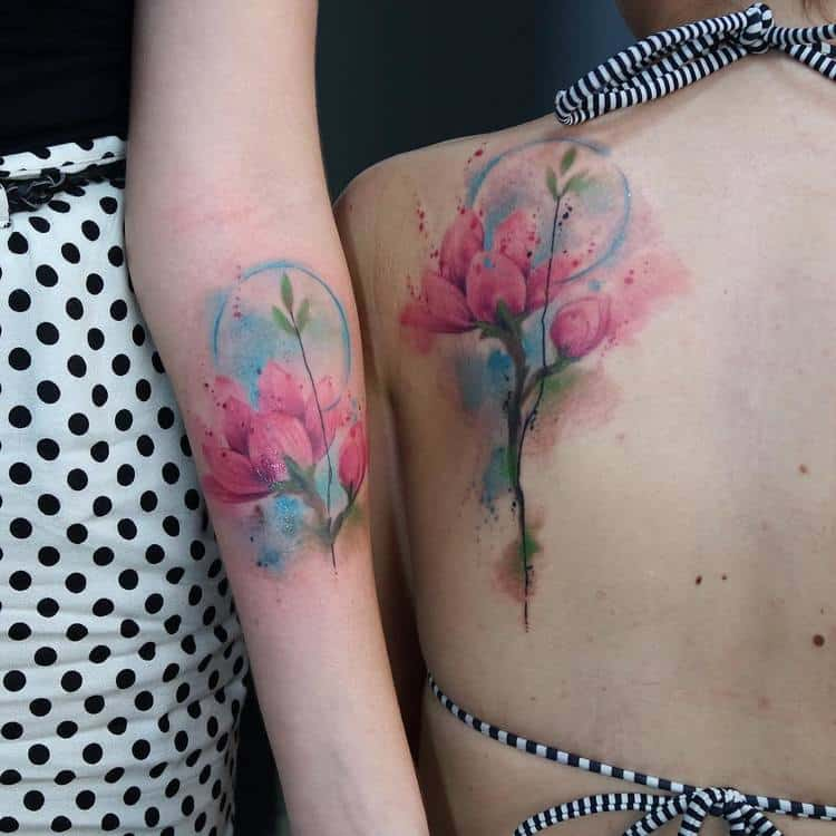 Magnolia Tattoo by skazxim
