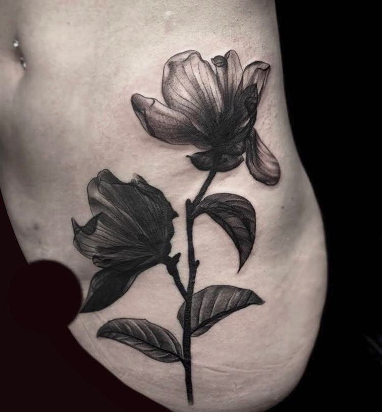 Magnolia Tattoo by bythestrange