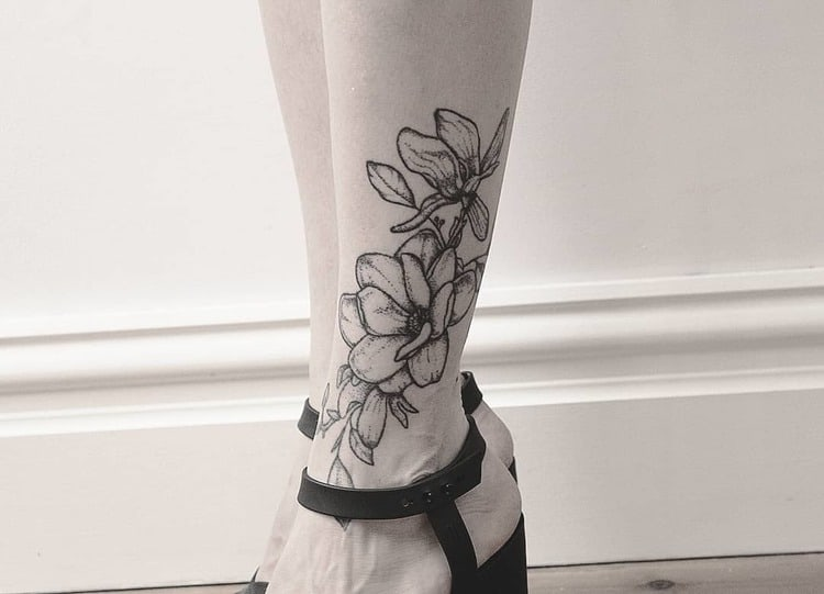Magnolia Tattoo by swink.inc