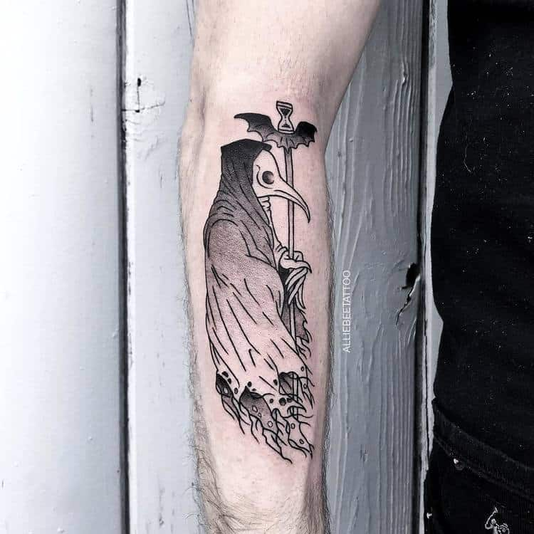 Plague Doctor Tattoo by alliebeetattoo