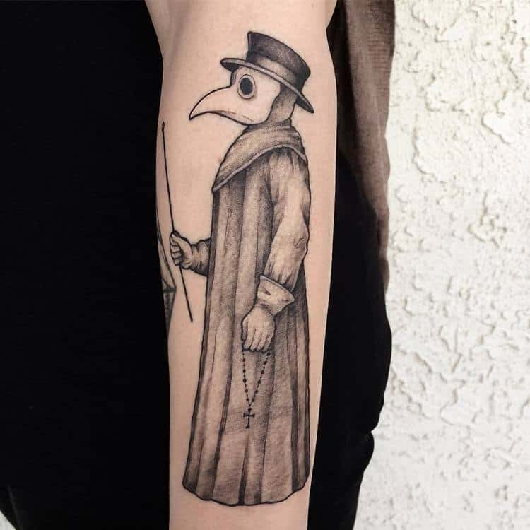 Plague Doctor Tattoo by kenny7tattoo