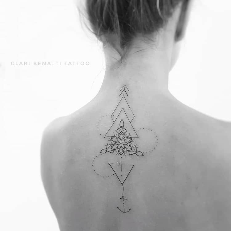Geometric Ornamental Tattoo by Clari Benatti