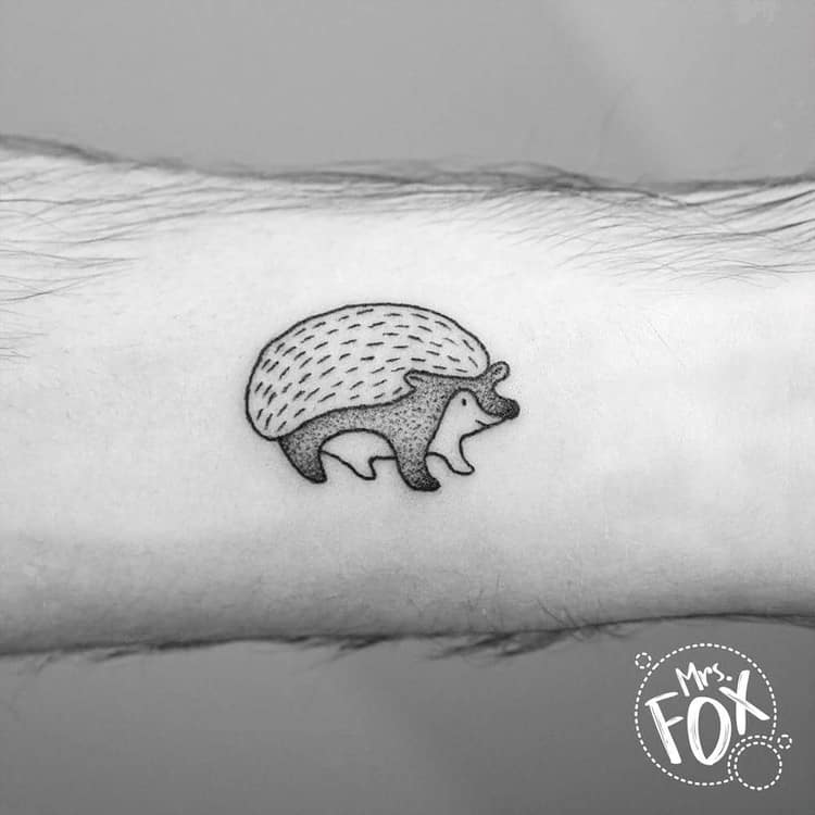 Hedgehog Tattoo by Mrs Fox