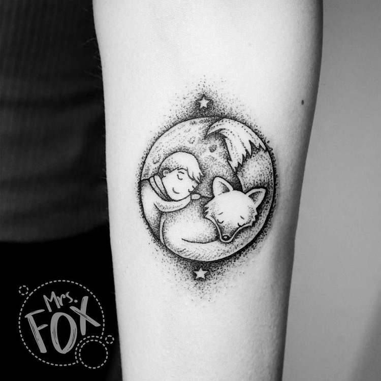 Cute Dotwork Tattoo by Mrs Fox